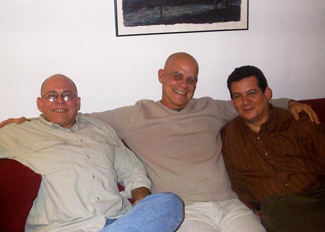 Con Luis Manuel García Méndez y Pedro Juan Gutiérrez, en Madrid.