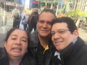 Un selfie con Marta y Gaby en Berlín, abril de 2016.