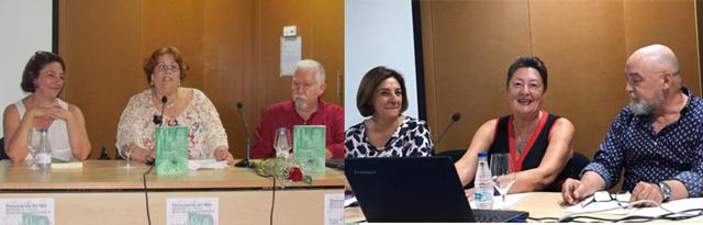 Presentaciones de Helena Vilarelle y Galina Álvarez, en ambos casos, con la presencia de Pilar Gay, Consejal de Cultura y los escritores Javier Bueno y Juan Calderón Matador, respectivamente.