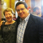Con la escritora y traductora búlgara Emilia Yulsari, Sofía, Bulgaria, mayo 2013.