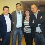 Con el escritor cubano Jorge Luis Arzola, la editora alemana Michi Strausfeld y el también escritor cubano José Manuel Prieto, Berlín, septiembre 2013.