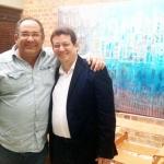 Con el actor, escritor, pintor y músico cubano Albertico Pujol, Bogotá, Colombia septiembre 2013.