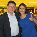 Junto a la escritora panameña Annabel Miguelena, Panamá, noviembre 2013.