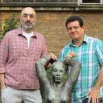 En Berlín, con el escritor guatemalteco Eduardo Halfon, septiembre 2014.