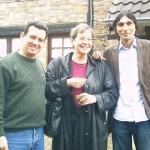 Mit der deutschen Schriftstellerin Karin Clark, Vice President des deutschen PEN, und dem kubanische Schriftsteller Jorge Luis Arzola. Langenbroich, Deutschland, 2006.