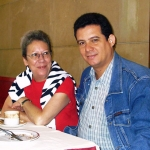 Mit der spanischen Journalistin Rosa Mora, in Semana Negra. Gijon, Spanien, 2004.