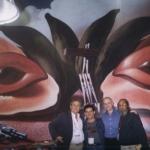 Mit dem kubanischen  Maler Ramón Alejandro y den kubanischen Schriftstellern Antonio José Ponte und Guillermo Vida. Internationale Buchmesse in Guadalajara. Guadalajara, Mexico, 2002.