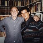 Mit dem argentinischen Schriftsteller Vicente Battista. Buenos Aires, Argentinien, 2001.