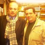 Mit dem argentinischen Schriftsteller Alfredo Tajan. Malaga, Spanien, 2006.