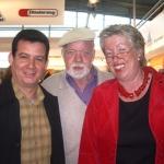 Mit seinem deutschen Herausgeber, der Schriftsteller Peter Faecke. Langenbroich, Deutschland, 2006.