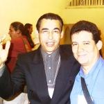 Mit dem kubanischen Schriftsteller Sindo Pacheco. Internationale Buchmesse. Havanna, Kuba, 2004.