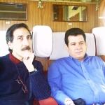 Mit dem iranischen Politologe Ahmad Faal. Langenbroich, Deutschland, 2006.