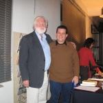 Mit dem deutschen Schriftsteller und Kritiker Martin Franzbach. Hamburg, Deutschland, 2007.