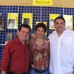 """Veranstaltung """"Festival de la Palabra"""" von Puerto Rico 2010: Mit der dominikanische Schriftstellerin Aurora Arias und dem Puerto Rican Schriftsteller Elidio La Torre Lagares in der Stand des Terranova Verlages. Puerto Rico, Mai 2010."""