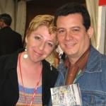 Mit der spanischer Schriftstellerin Cristina Macia, Ehefrau des verstorbenen kubanischen Schriftsteller Justo Vasco, in Semana Negra. Gijon, Spanien, 2007.