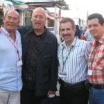 Von links. nach rechts: Mit den spanischen Schriftstellern Juan Madrid, Andreu Martin und dem kubanischen Rodolfo Perez Valero, in Semana Negra. Gijon, Spanien, 2007.