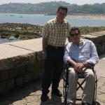 Mit dem spanischen Schriftsteller Juan Ramón Biedma. San Sebastian, Spanien, 2007.