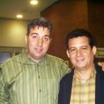 Mit dem albanische Schriftsteller Arjan Leka. Düren, Deutschland, 2006.