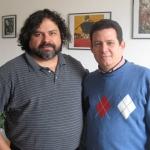 Mit dem Schriftsteller Francisco Alejandro Mendez aus Guatemala. Berlin, Deutschland, September 2010.