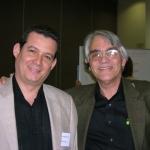 Mit dem kubanischen Schriftsteller Manuel Gayol. Irvine, U.S.A, 2008.