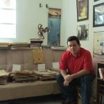 In den letzten Tagen seiner Tour der Untersuchung durch Mittelamerika und U.S.A für das Schreiben der autorisierten Biographie des panamaischen Helden Hugo Spadafora. Panama, September 2011.