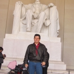Im Lincoln Memorial in Washington, U.S.A, November 2011.
