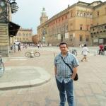 In Bologna, Italien, Juni 2012.