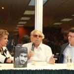 Con los escritores panameños Rosa María Britton y Guillermo Sánchez Borbón (Tristán Solarte), Panamá, noviembre 2013.