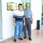 With Columbian writer Isaías Peña Gutiérrez. Havana, Cuba, 2005.