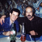 With Cuban writer Félix Luis Viera. Guadalajara, Mexico, 2002.