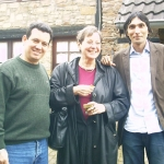 With German writer Karin Clark, Vice President of PEN, Germany, and Jorge Luis Arzola, Cuban writer. Langenbroich, Germany, 2006.