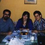 With Iraqui writer Abdoul Sadi Hadoum and Syrian journalist Malak Sahioni. Madrid, Spain, 1999.