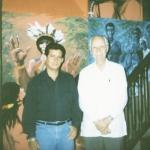 With the historian of San Juan, Don Ricardo Alegría. San Juan, Puerto Rico, 2000.