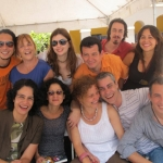 Festival de la Palabra: From the left to the right, seated: Gabriela Aleman, Pilar Quintana, Karla Suárez, Ezequiel Martinez and Ivan Thays, and standing: Ondjaki, Elsa Osorio, Lauren Mendinueta, Amir Valle, Pedro Celis Mairal and Nadia. Puerto Rico, May 2010.