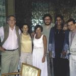 With Anacristina Rossi (Costa Rica), Liliana Heker (Argentina) and Santiago Gamboa (Colombia), Casa de Las Américas. Havana, Cuba, 2005.