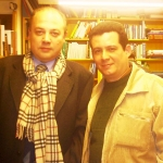 With Argentine writer Alfredo Taján. Malaga, Spain, 2006.