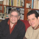 With Cuban writer José (Pepe) Triana. Paris, France, 2008.