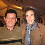 With Peruvian writer Ivan Thays,  International Festival of Literature. Berlin, Germany, 2007.
