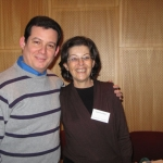 With Costa Rican writer Anacristina Rossi, Berlin, Germany, January 2010.