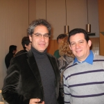 With Guatemalan writer Rodrigo Rey Rosa, Berlin, Germany, January 2010.