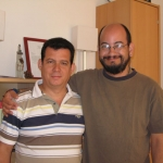 With Columbian writer and publisher Álvaro Castillo Granada. Berlin, Germany, 2008.