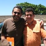 Festival de la Palabra: With the Colombian writer Mario Mendoza. Puerto Rico, May 2010.
