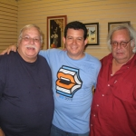Festival de la Palabra: With the Cuban actor Orlando Casín (to the left) and the Cuban poet and journalist Raúl Rivero. Puerto Rico, May 2010.