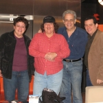 With Cuban writers Odette Alonso, Yamilet García y Orlando González Esteva. Mexico. D.F., Mexico, 2008.
