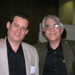 With Cuban writer Manuel Gayol. Irvine, U.S.A, 2008.