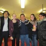 En la Freie Universität Berlin, durante una tesis sobre Habana Babilonia, enero 2014.
