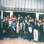 Together with other young writers in the First Congress of Hispanic New Storytellers, Casa de America. Madrid, Spain, May 1999.