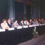 Internacional Book Fair of Guadalajara. At the presentation of the Cuban Culture Collection, Plaza Mayor Publishig House. Guadalajara, Mexico, November, 2002.