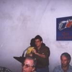 "Internacional Book Fair of Havana. Presenting his novel ""Las puertas de la noche"". Havana, Cuba, February 2002."