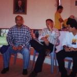 """At the presentation of his book """"Manuscritos del muerto"""". Santo Domingo, Dominican Republic, May 2000."""